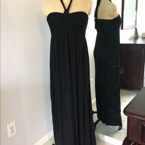 Dresses & Skirts - ☕️☕️Tie Halter Black Maxi Dress☕️☕️